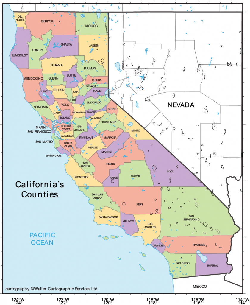 Print Out California | State Coloring Pages Usa Printable Printable | Printable Map Of California Usa