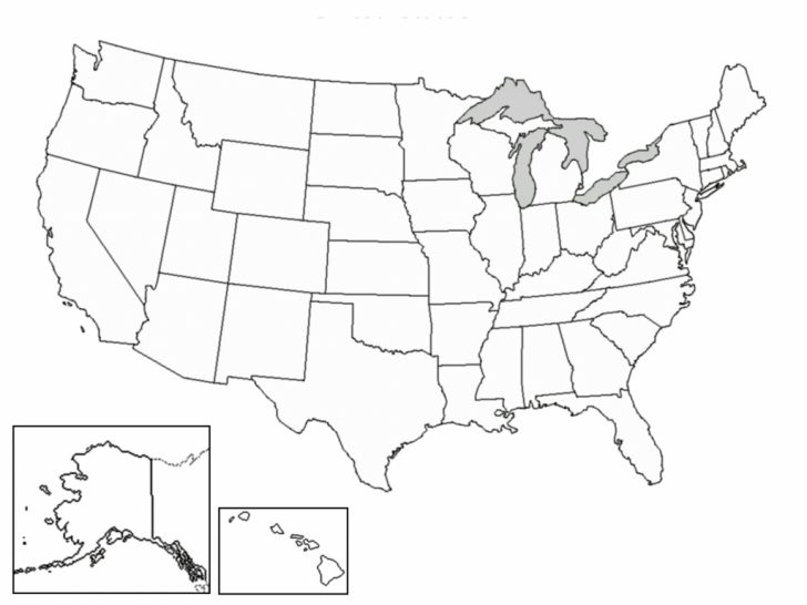 Blank Map Of The United States Printable