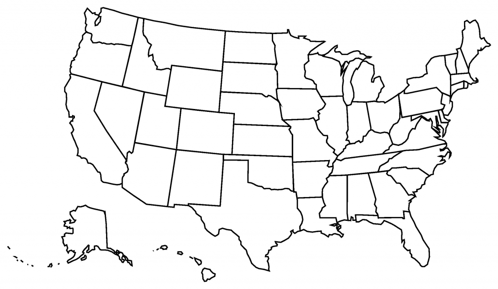 Printable Blank Us State Map A Blank Us Map Printable Lovely United   Us Map Unlabeled Printable