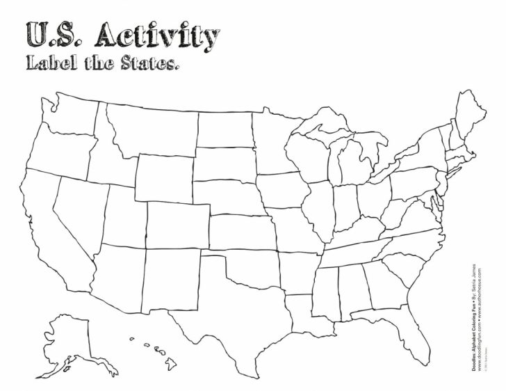 Us Map Activity Printable