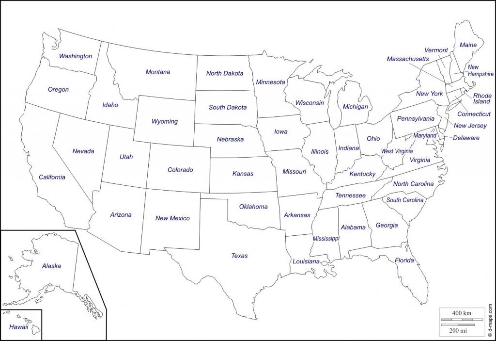 Printable Map Of The Usa States | Printable Maps | Printable Map Of The Us Without State Names