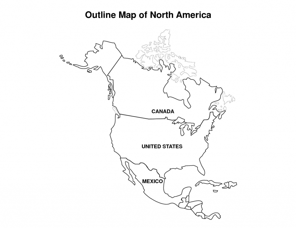 Printable Map Of Us And Canada Outline Usa Mexico With Geography | Printable Map Of The United States And Mexico