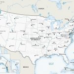 Printable Map Of Us Capitals Usa With States Valid Major Cities | Printable Map Of The United States With Major Cities
