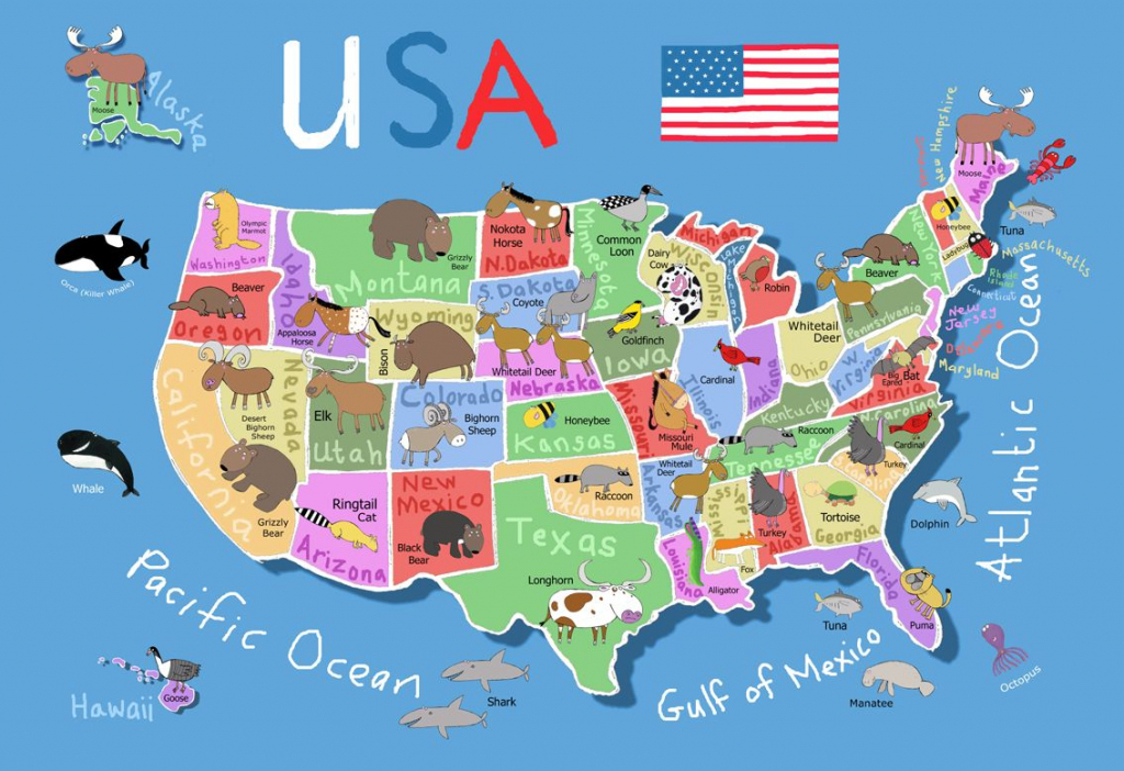 Printable Map Of Usa For Kids   Its's A Jungle In Here!: July 2012   8X10 Printable Map Of The United States