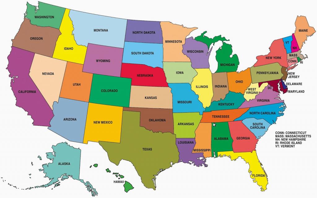 Printable Map Of Usa - Free Printable Maps - Printable Map Of The   Printable Map Of Usa Showing States