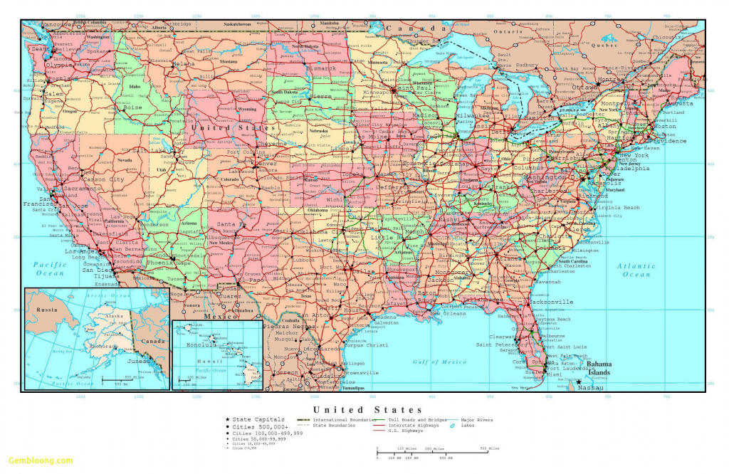 Printable Map The United States Valid Map Od Us With Cities Large | Large Printable Map Of The United States