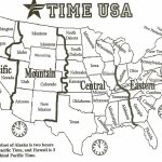 Printable Map United States Time Zones State Names Save Printable Us | Printable Map Of The Usa With Time Zones