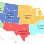 Printable Regions Map Of The United States | 5 Regions Of The United States Printable Map
