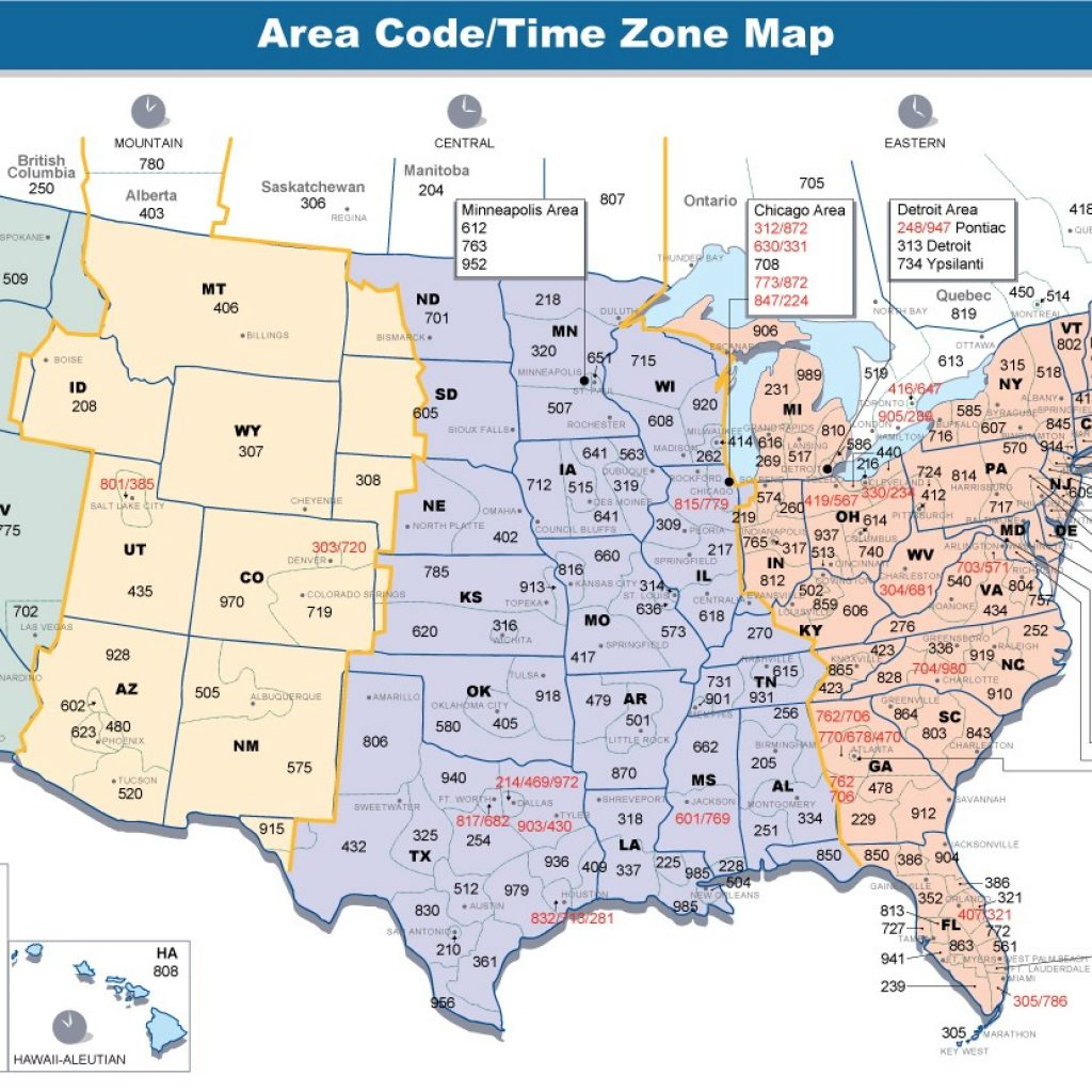 Printable Time Zone Map Chart Kirmi Com | Printable Map Of Us Time Zones And Area Codes