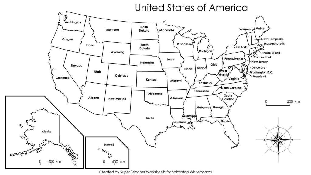 Printable United States Map Blank New United States Map Label | Printable Us Map With States Listed