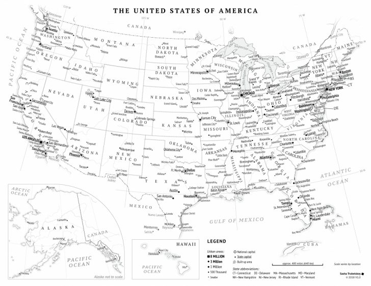 Printable Picture Of Usa Map