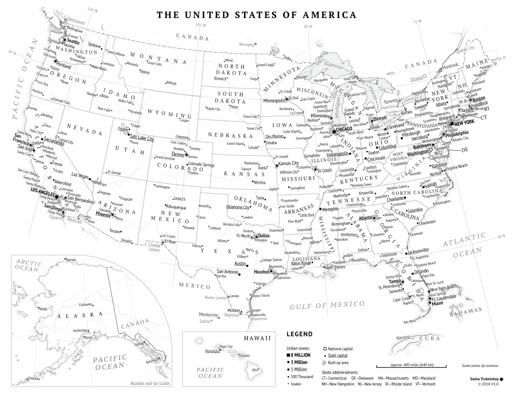 Printable United States Map – Sasha Trubetskoy | Printable Version Of Us Map