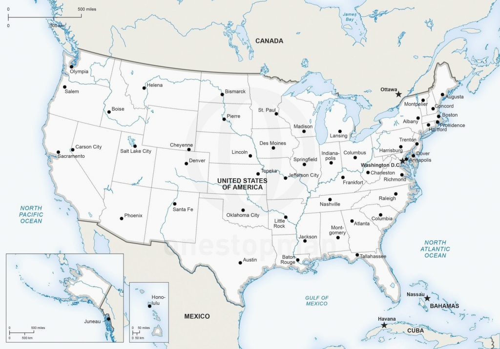 Printable United States Map With Cities Best Printable Us Map With   Printable Map Of Us With Major Cities
