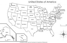 Printable United States Map With States Labeled | Printable Map Of The United States Labeled