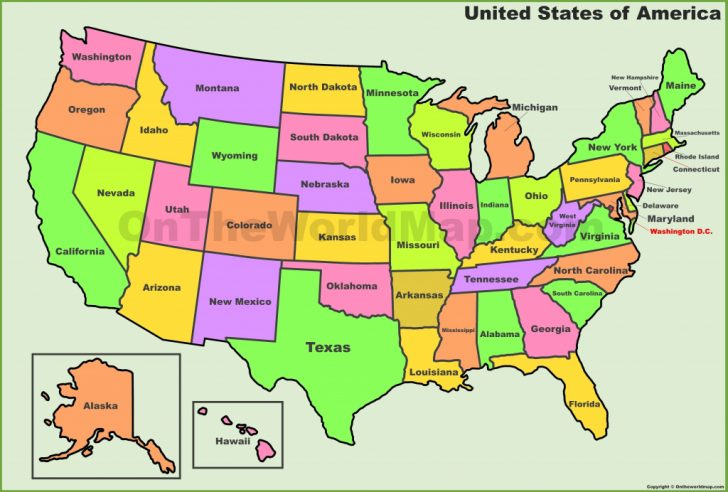 Printable United States Map With State Names And Time Zones