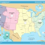 Printable United States Map With Time Zones And State Names Refrence | Printable Map Of Us Time Zones With State Names