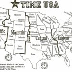 Printable United States Map With Time Zones And State Names Save | Printable United States Time Zone Map With Cities