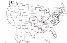 Printable Us Map Capitals United States Map Capitals America | Printable Usa Map With Capitals