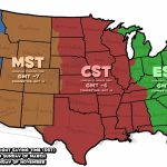 Printable Us Map Of Time Zones Fresh Us Map Time Zones With States | Printable Us Map Time Zones