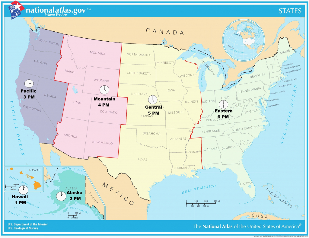 Printable Us Map States Labeled Best Printable United States Map | Printable United States Map With Time Zones And State Names