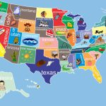 Printable Us Map Template | Usa Map With States | United States Maps | Kid Friendly Printable Us Map