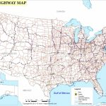 Printable Us Map With Interstate Highways Valid United States Major | Printable United States Map With Interstates