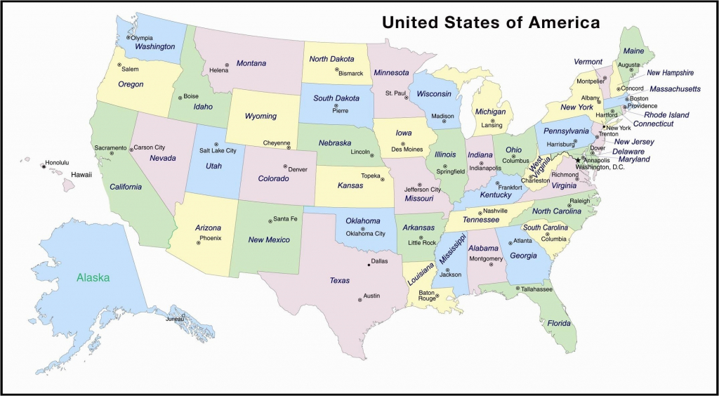 Printable Us Map With States And Capitals Labeled Inspirationa | Printable Us Map And Capitals