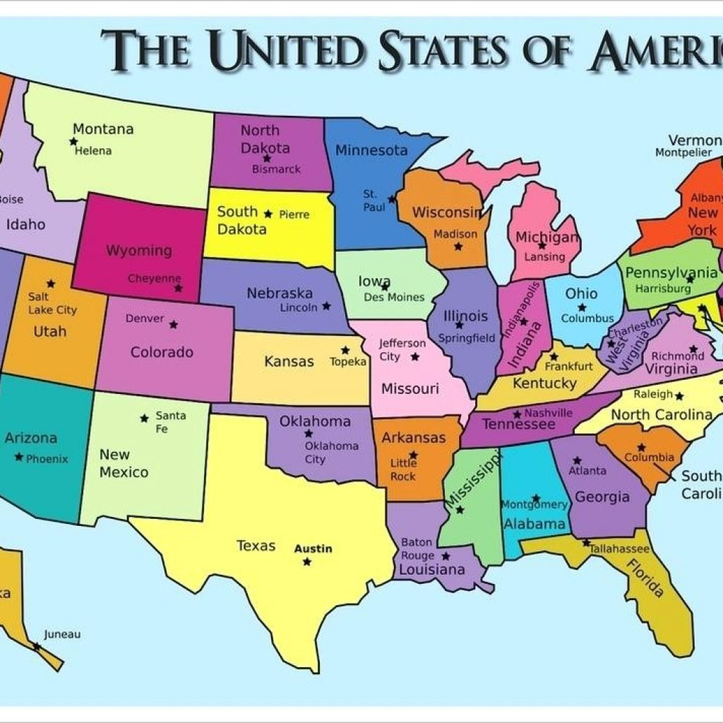 Printable Us Map With States And Capitals Test Your Geography   Printable Us Map And Capitals