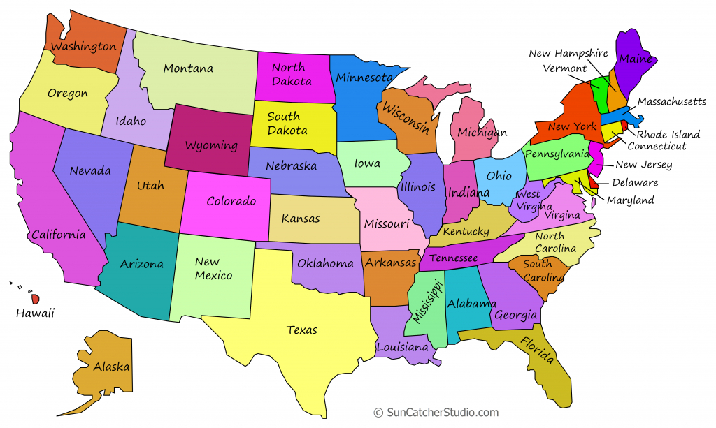 Printable Us Maps With States (Outlines Of America - United States) | Large Printable Us Map