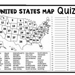 Printable Us State Map Blank Blank Us Map Quiz Printable At Fill In | Free Printable Blank Us Map Worksheets