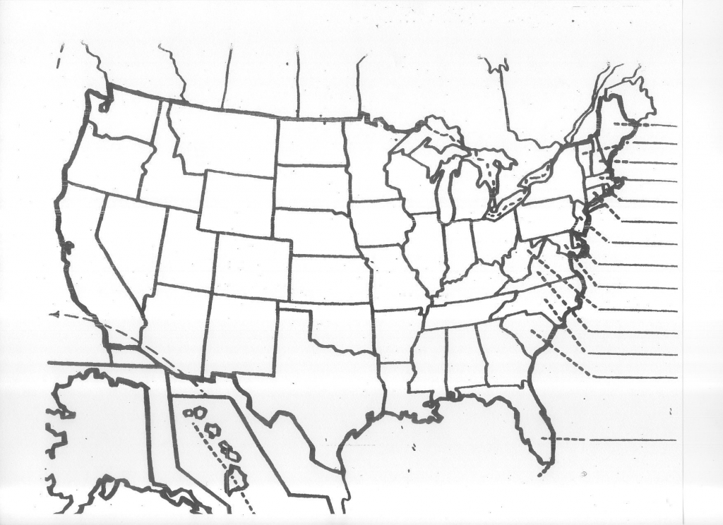 It is a photo of Striking United States Map Quiz Printable