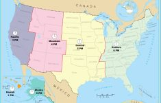 Printable Us Time Zone Map With States New Time Zone Maps North | Printable Map Of The United States With Time Zones