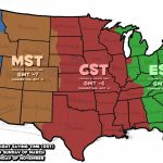 Printable Us Time Zone Map With States Valid 10 Inspirational | Printable Map Of The United States Time Zones