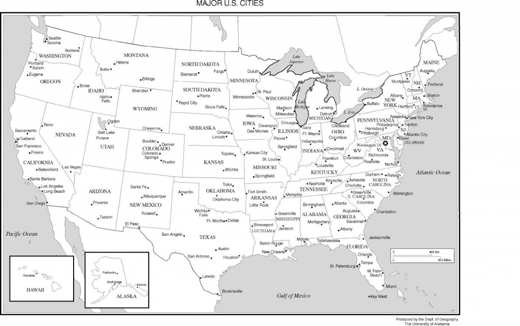 Printable Usa Blank Map Pdf | Printable Usa Map With Cities And States