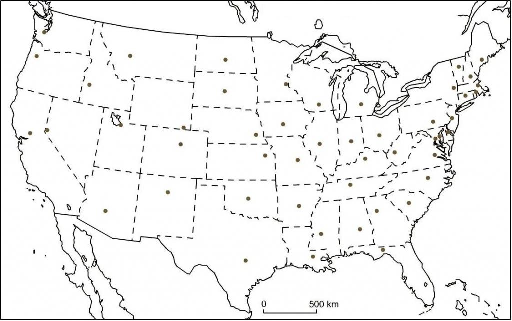 Printable Usa Map With States And Capital - Set Your Plan & Tasks | Printable Usa Map With Capitals