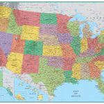 Rmc Signature United States Wall Map Poster 32X50 | Blank Us Map Poster
