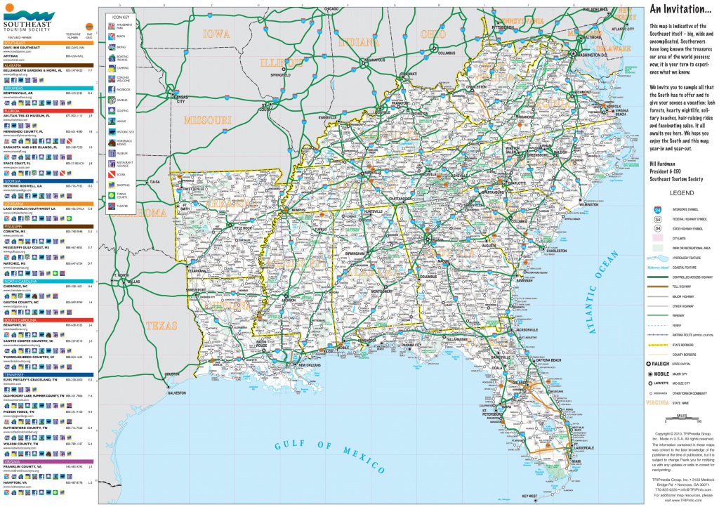 Road Map For Eastern Us Best Of Amazing Road Map Southeastern United | Printable Map Of The Eastern United States