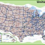 Road Map Of Michigan Highways Printable Us Map With Interstate | Us Interstate Road Map Printable