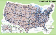 Road Map Of Michigan Highways Printable Us Map With Interstate | Us Interstate Road Map Printable