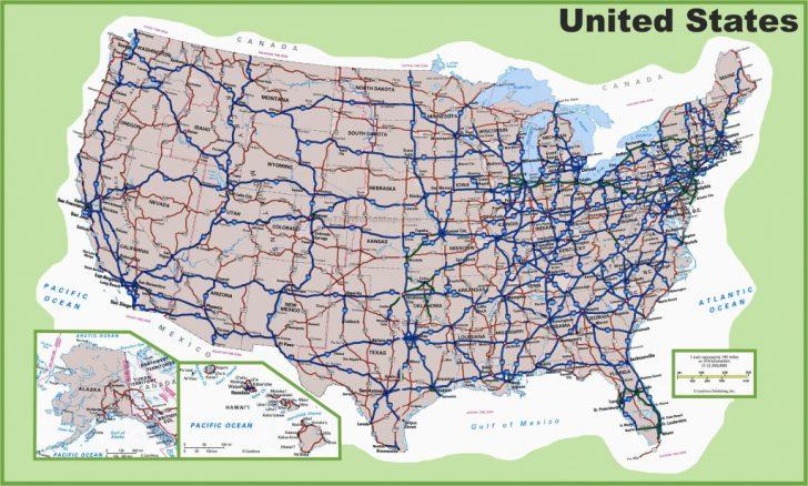 Us Interstate Road Map Printable