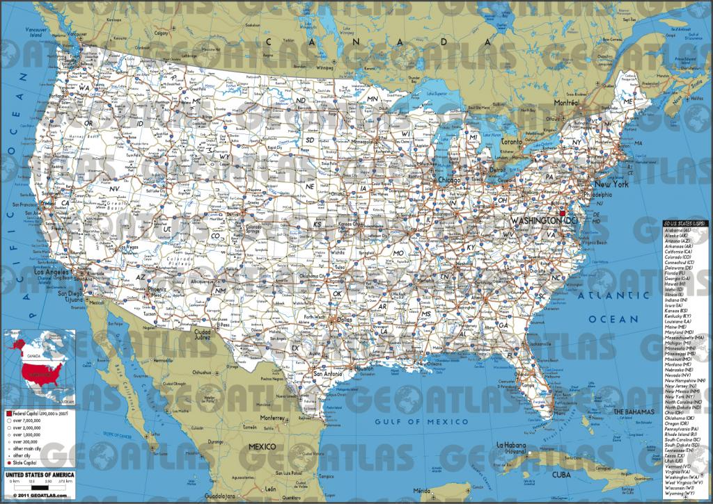 Road Map Of Usa #628165 | 8X11 Printable Us Map