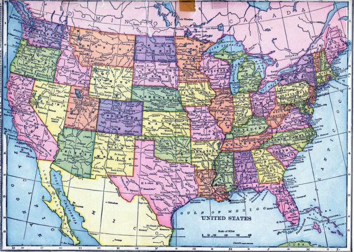 Printable 8X11 Map Of The United States
