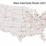 Road Maps Printable Highway Map Cities Highways Usa Detailed Free Of | Printable Us Road Map Pdf
