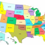 Small Map Of Usa With States Throughout 1 6 A The United 5   Small Printable Map Of The United States