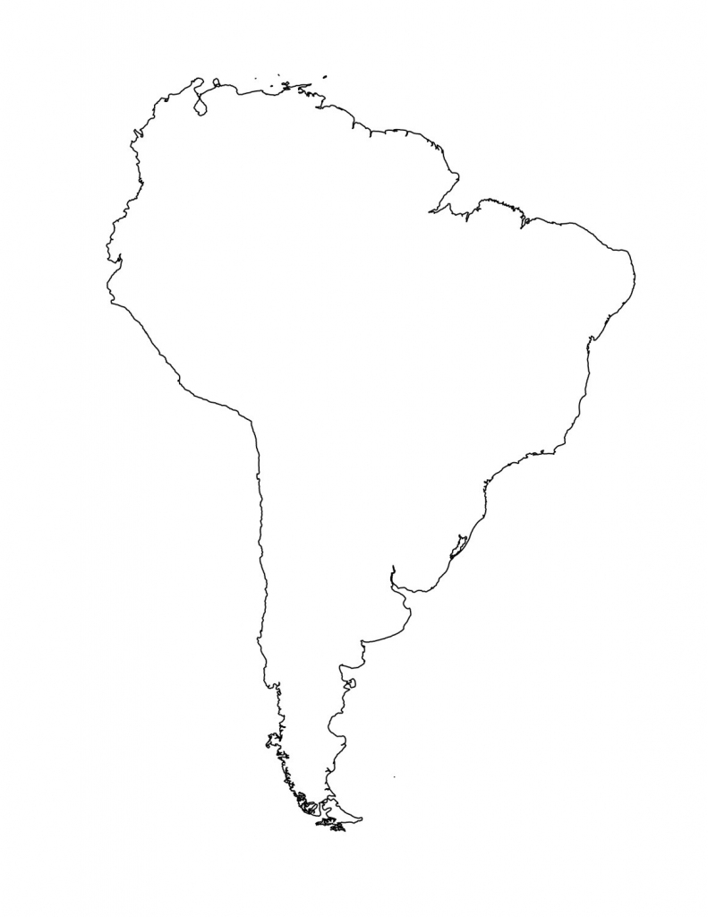 South America Outline Printable American Map 8 | Globalsupportinitiative | Printable South America Map Outline