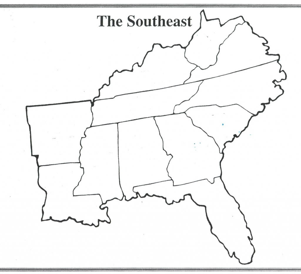 South Us Region Map Blank Inspirationa United States Regions Map | Printable Map Of The Southeast Region Of The United States