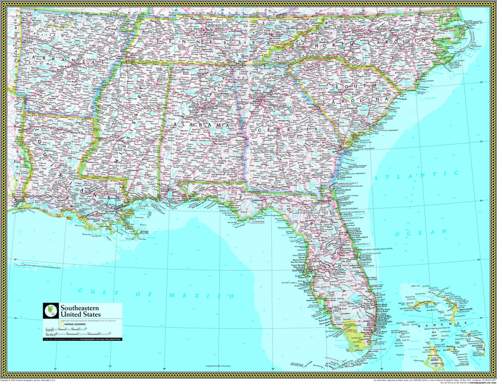 Southeast Usa Wall Map - Maps | Free Printable Map Of The Southeastern United States