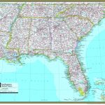 Southeastern United States Atlas Wall Map   Maps | Printable Map Of Southeast Usa