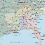 Southeastern United States Road Map New Driving Map Southeast Us Wp | Printable Map Of The Southeastern United States
