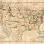 Stanford's New Large Print Map Of The United States Of North America | Large Print Map Of The United States